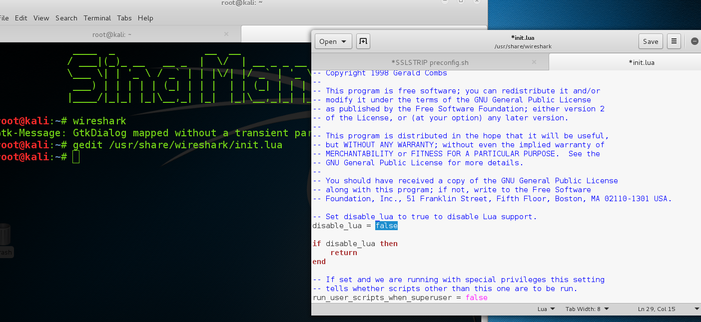 Resolver erro no Wireshark (Lua: Error during loading: on Wireshark)
