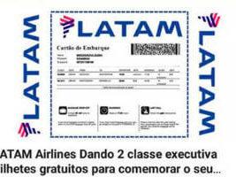 Novo golpe de phishing usando o nome da LATAM