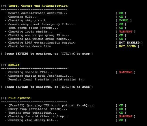Ferramenta de Auditoria de Segurança para Unix/Linux - Lynis