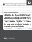 Caderno 12 - Boas práticas de governança corporativa para empresas de capital fechado: um guia para sociedades limitadas e sociedades por ações fechadas